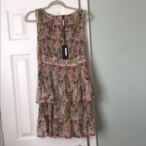 Anthropologie floral fall print dress